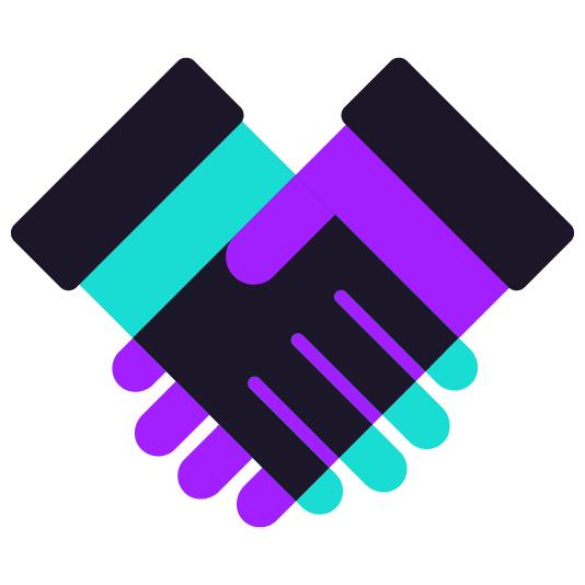 handshake icon color