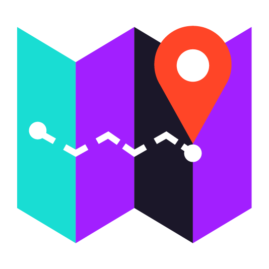 map icon in color