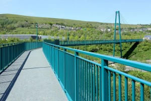 151m span bridge linking the Ebbw Vale community