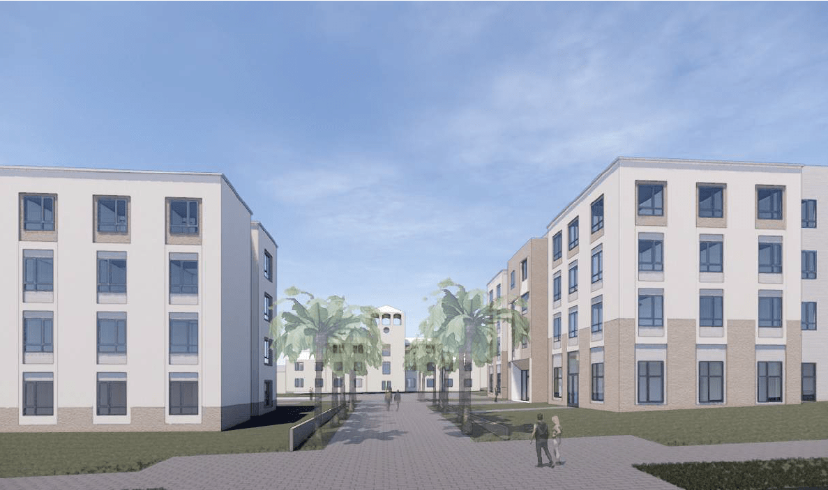 Conceptual designs for two new student residence halls
