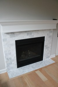 Tile Over Marble Fireplace - Tile Design Ideas