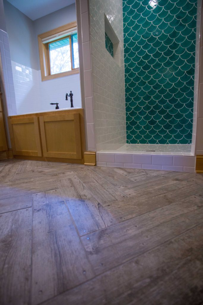 Fish Scale Tile Shower  Before  After Pictures