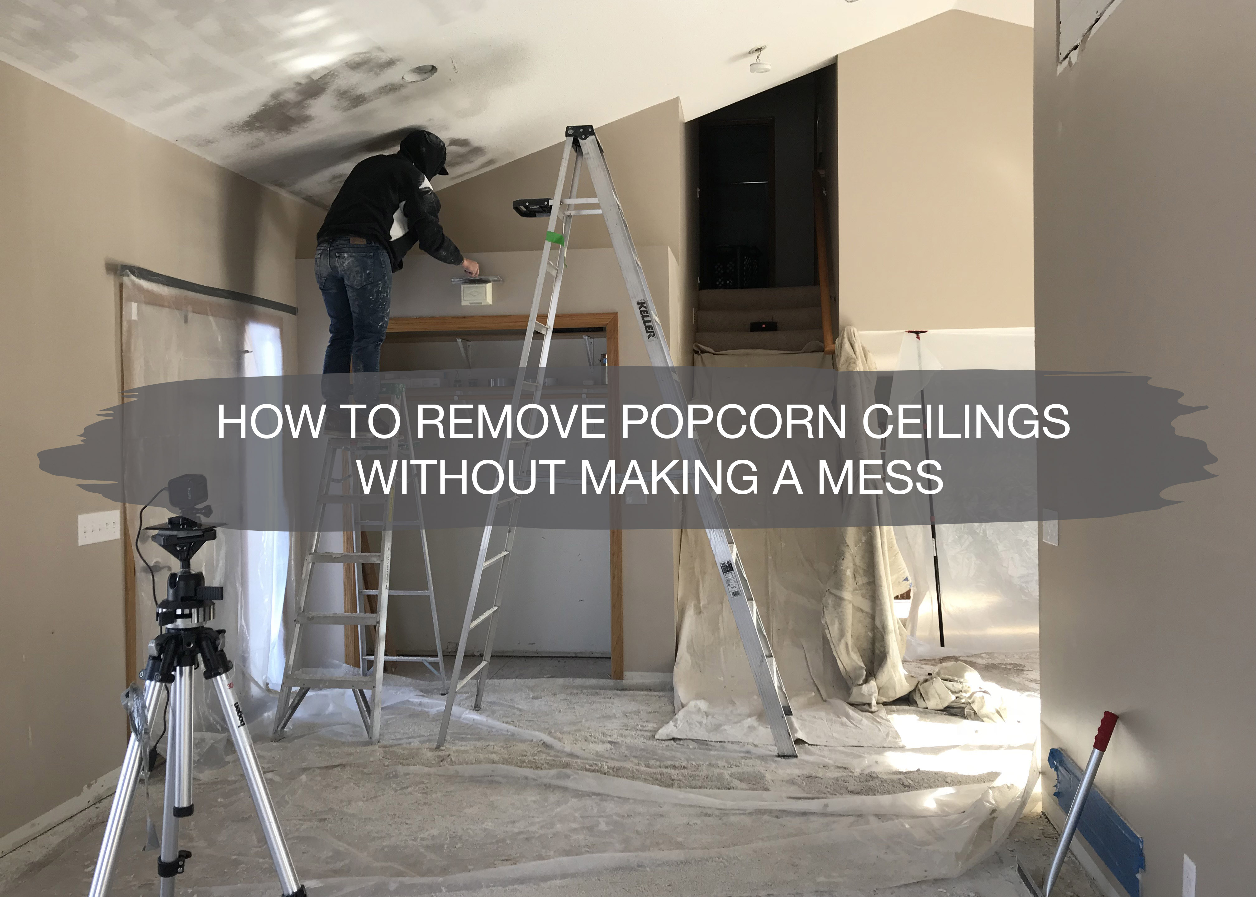 How To Remove Popcorn Ceilings 6 Easy Steps And It S Gone
