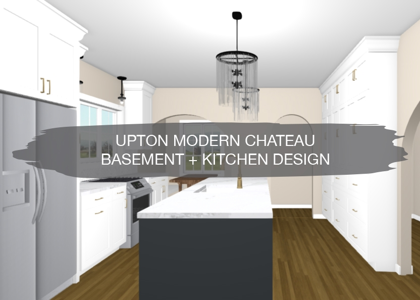 Upton Modern Chateau Basement Kitchen Design Construction2Style | Kitchen With Stairs To Basement | Next | Mid Century | Living Room | Narrow | Ranch