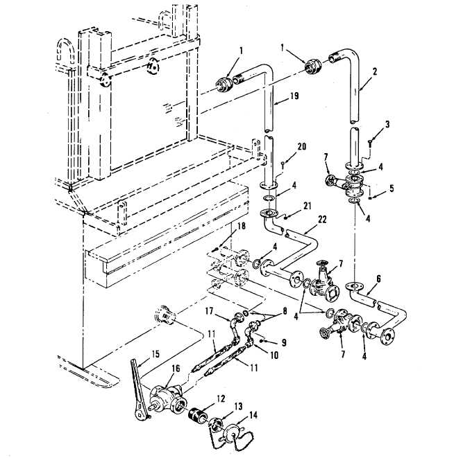 Figure 2-4. Asphalt Melter Basic Piping and Valve Installation