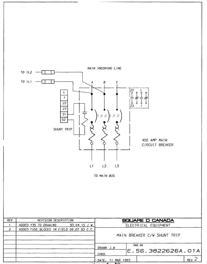 circuit breaker shunt trip wiring diagram, Wiring diagram