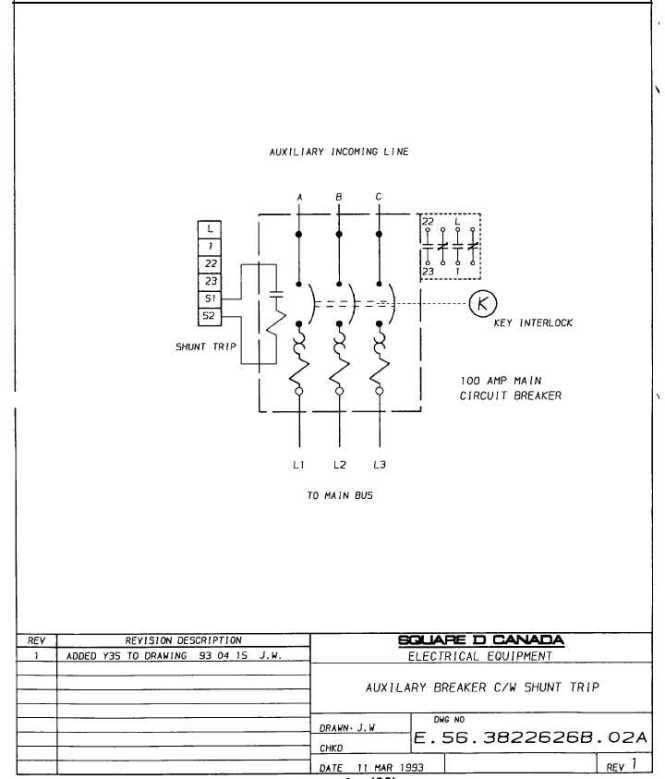 cutler hammer shunt trip circuit breaker wiring diagram - wiring, Wiring diagram
