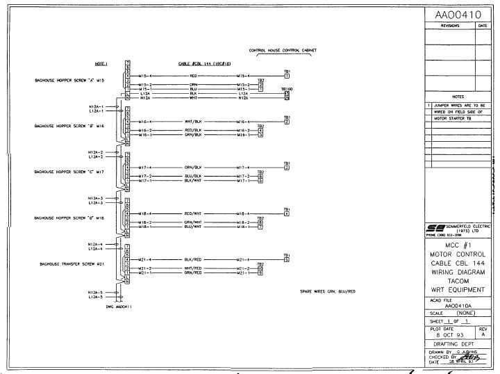 Mcc #1 Motor Control Cable Wiring Diagram