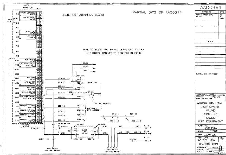 wiring diagram for divert valve controls