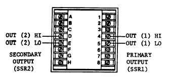WIRING FOR SOLID STATE RELAY OUTPUT AND/OR SECONDARY OUTPUT
