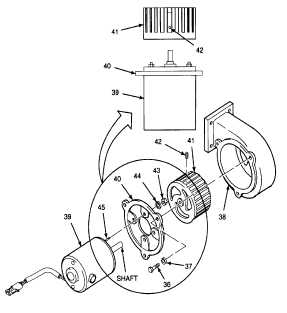 2. REMOVE BLOWER MOTOR AND FAN ROTOR FROM BODY