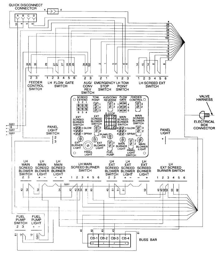 LEFT HAND SCREED CONTROL PANEL WIRING DIAGRAM