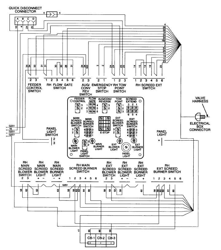 RIGHT HAND SCREED CONTROL PANEL WIRING DIAGRAM