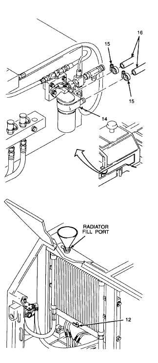 1. FILL COOLANT SYSTEM