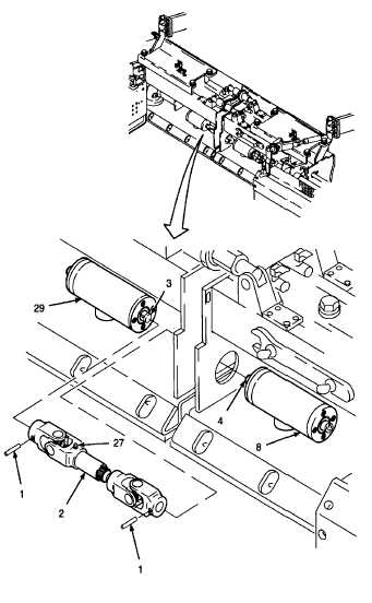 4. INSTALL UNIVERSAL JOINT ON DRIVE SHAFTS