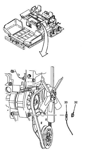 4. DISCONNECT ELECTRICAL CONNECTIONS FROM ALTERNATOR.