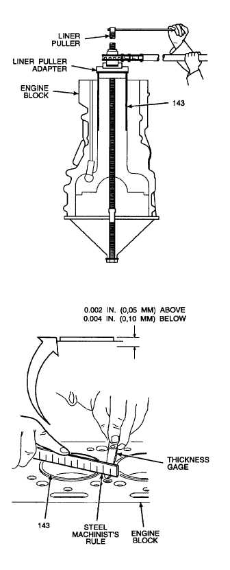 e. Use a liner puller adapter