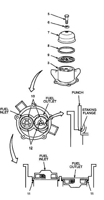2. INSTALL VALVES, PREFORMED PACKING, FILTER SCREEN, AND
