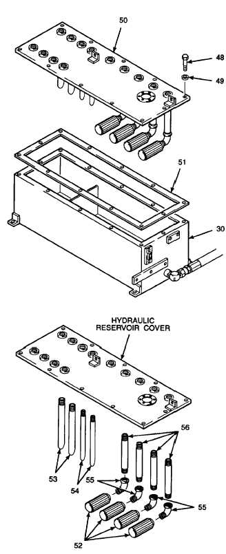 8. REMOVE HYDRAULIC RESERVOIR COVER AND GASKET