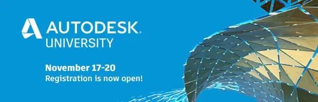 register for autodesk university 2020