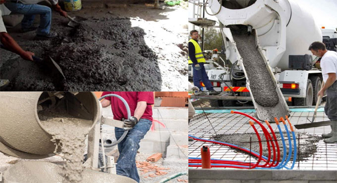 How concrete is mixed in different ways