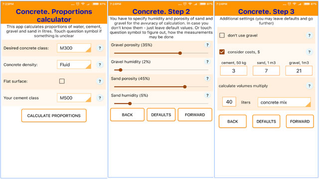 Download an exclusive online construction calculator for measuring concrete work
