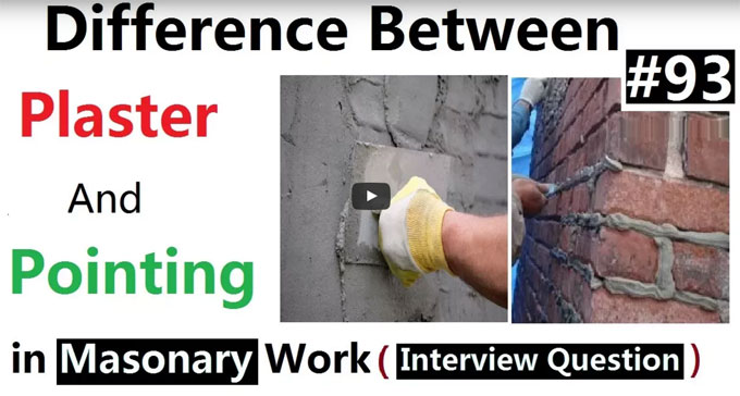 Variations among plastering & pointing