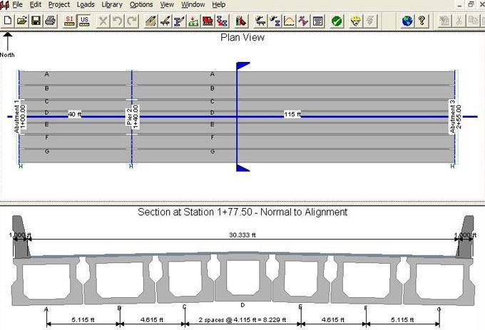 Prestressed Girder SUPERstructure design and analysis