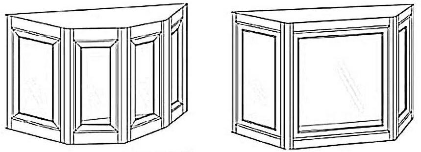 Illustration of Projection (Bay and Bow) Windows