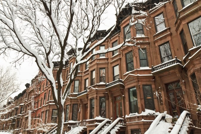 Brooklyn homes in winter