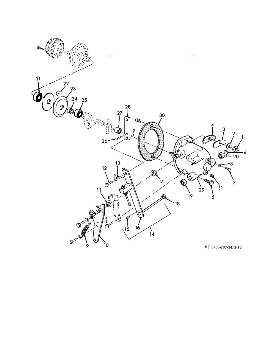 Figure 3-10. Governor, exploded view.