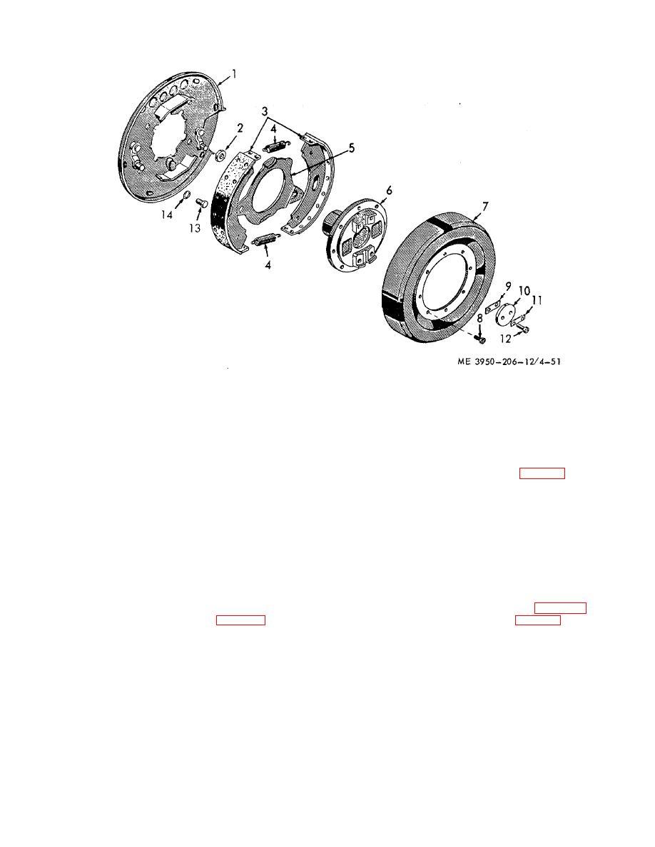 Figure 4-51. Transmission drive yoke and parking brake