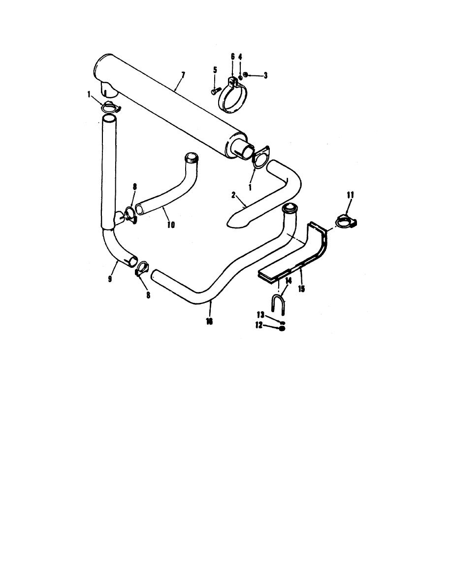 Figure 4-3. Carrier engine exhaust assembly, removal add