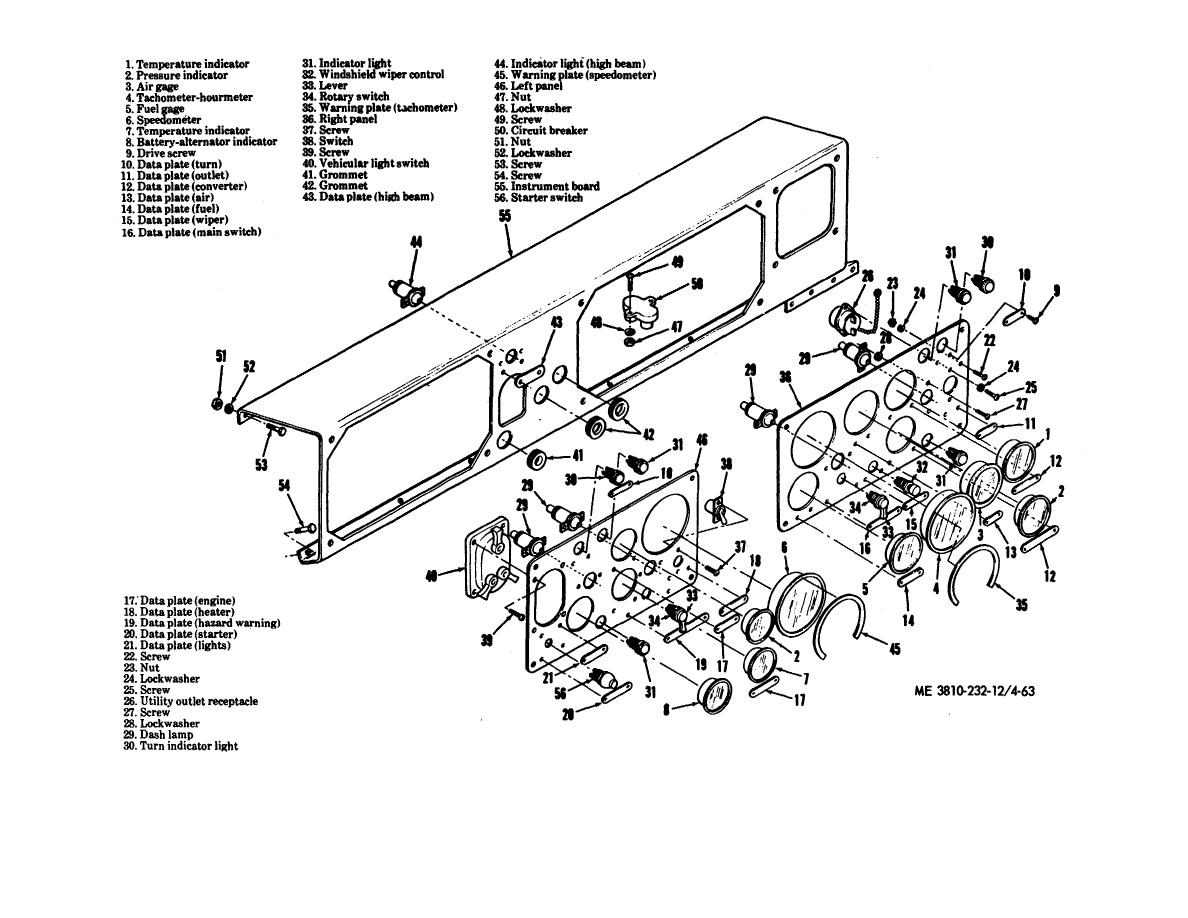 Figure 4-63. Carrier instrument panels, disassembly and