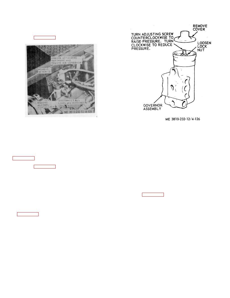Figure 4-126. Air compressor governor adjustment.