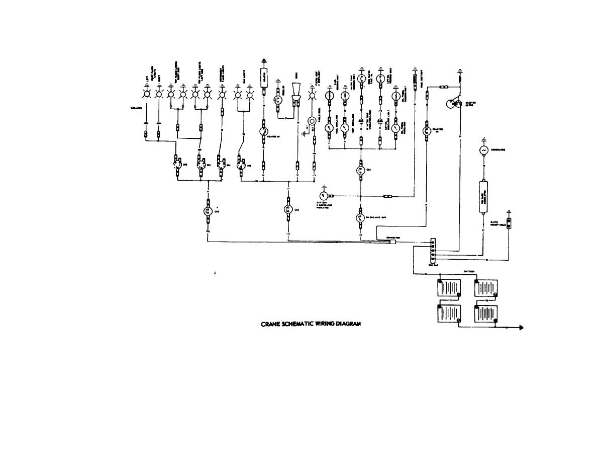 Figure 1-2. Crane schematic wiring diagram.