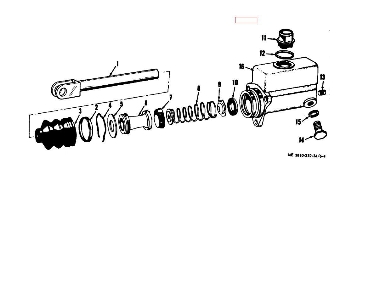 Figure 6 4 Crane Hydraulic Master Cylinder Assembly