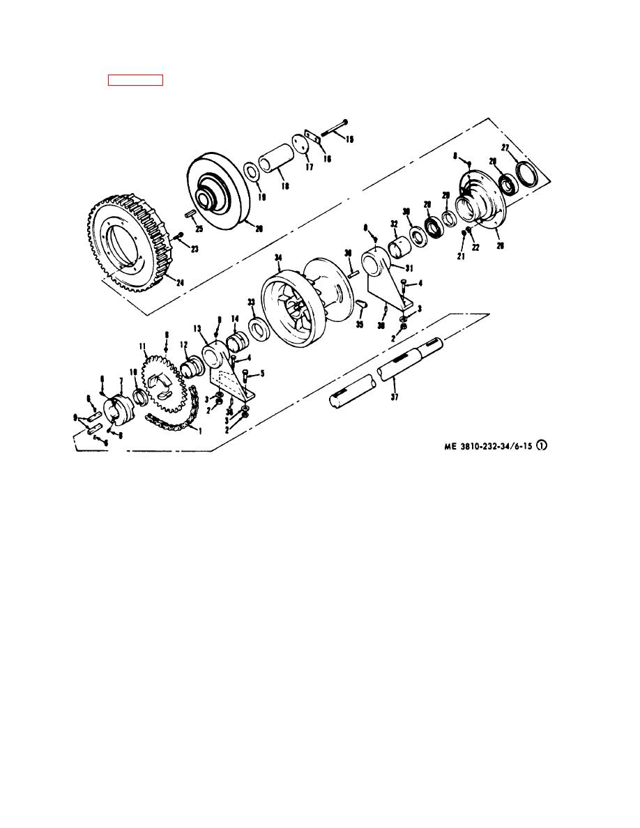 Figure 6-15. (1 )Crane independent boom assembly, exploded