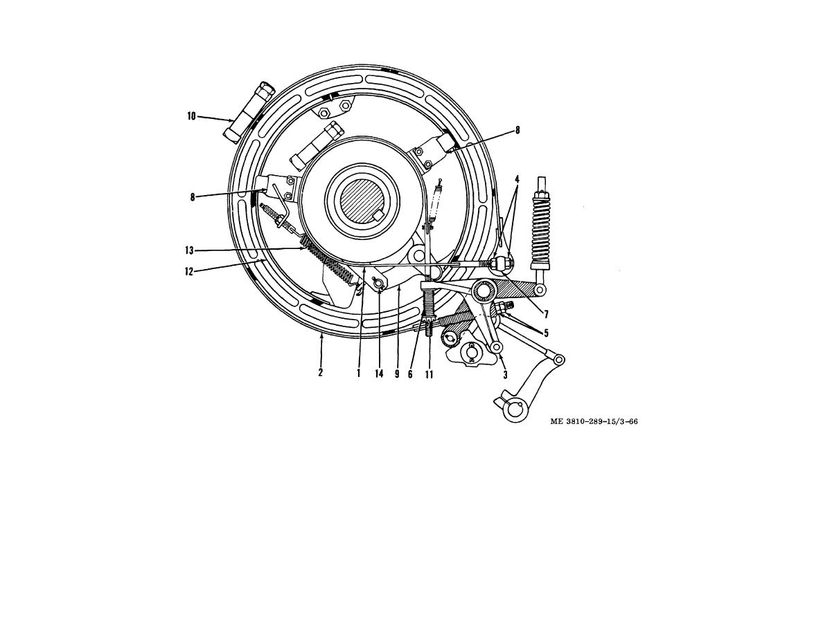 Figure 4-51. Clutch and brakebands, removal and