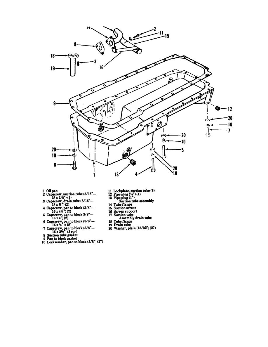 Figure 3-170. Oil pan, exploded view.