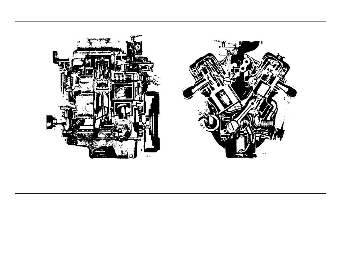Cross Section Views Of A Typical 6v 53 Engine