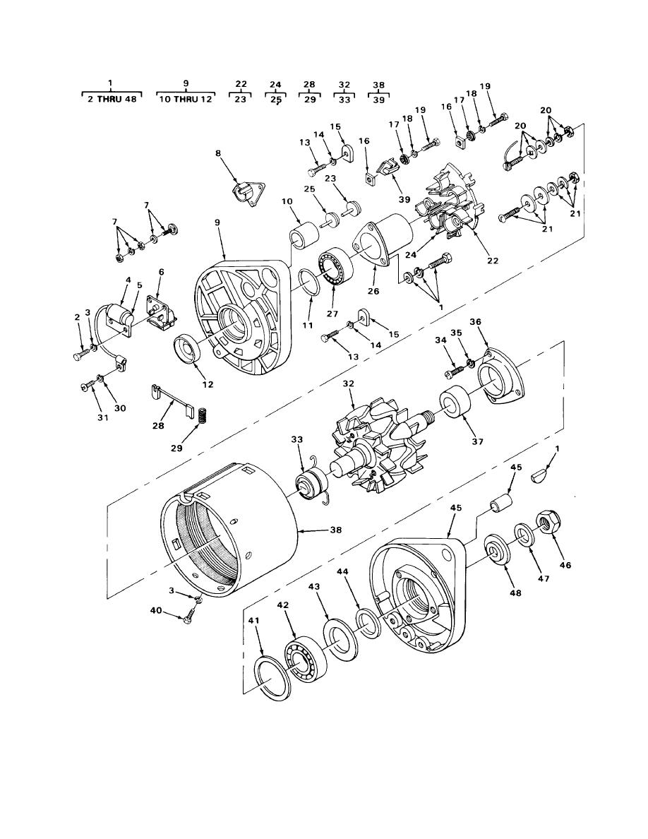 FIGURE 18. DELCO REMY ALTERNATOR.