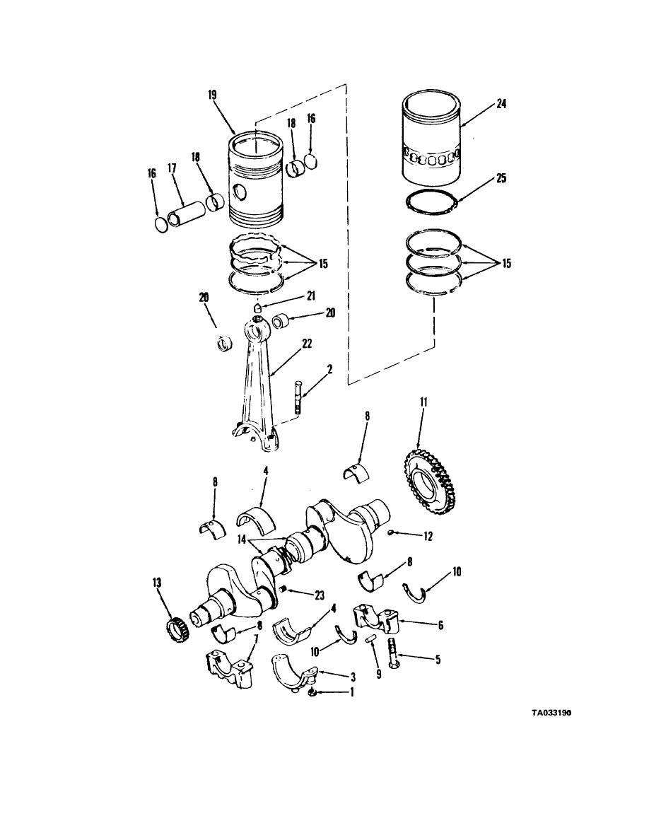 Figure 4-16A. Crankshaft connecting rod and piston