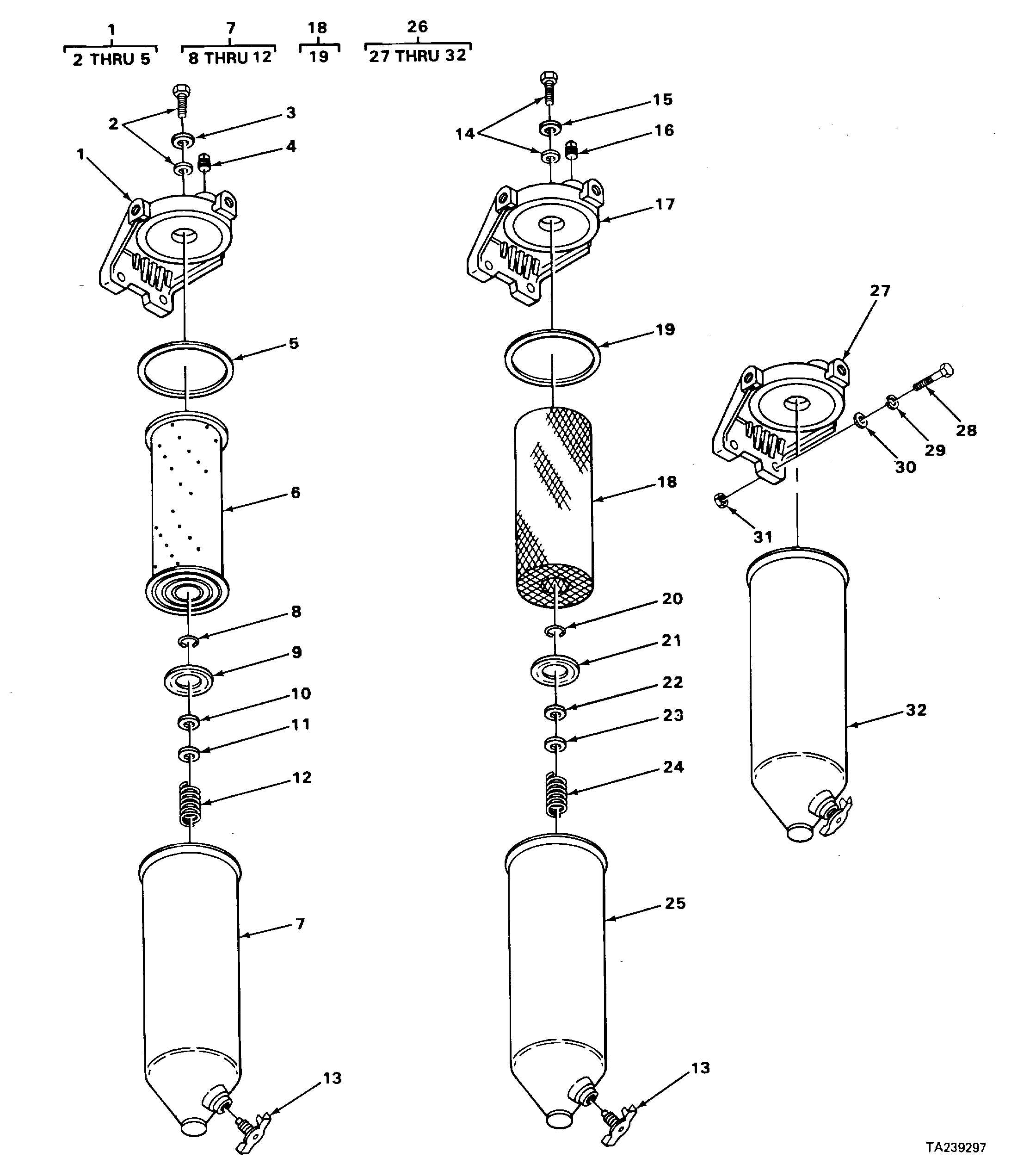FIGURE 44. FUEL FILTERS AND STRAINER