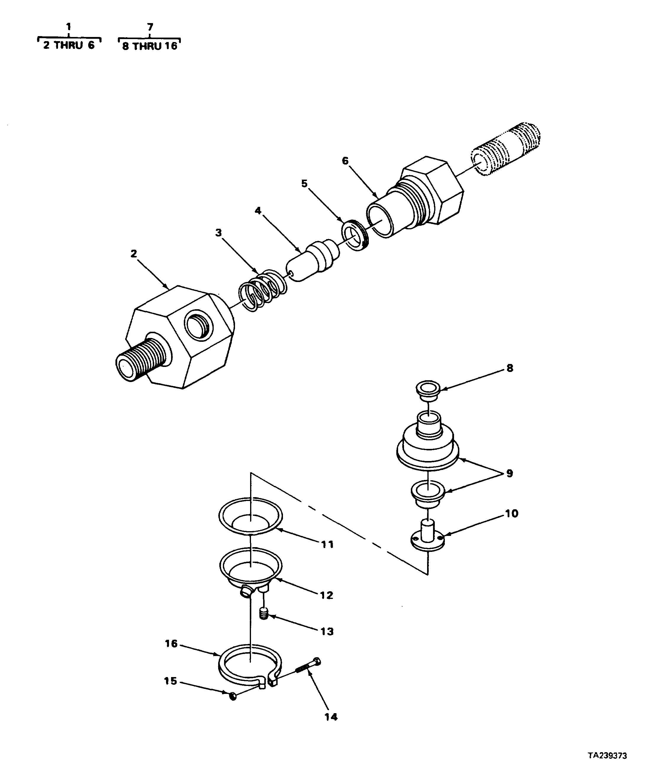 FIGURE 120. CHECK VALVE (ALCOHOL EVAPORATOR) AND AIR BRAKE