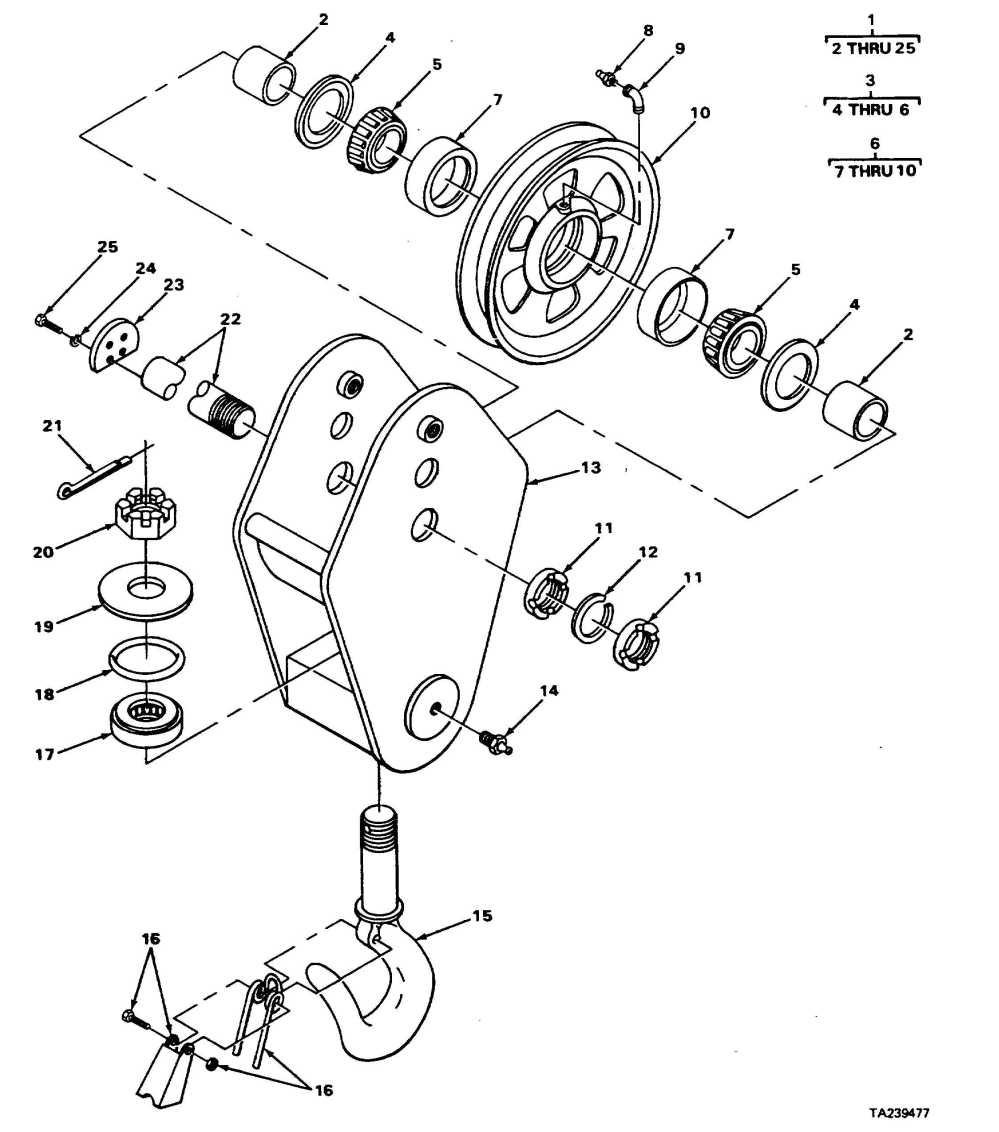 medium resolution of pivot hook block assembly