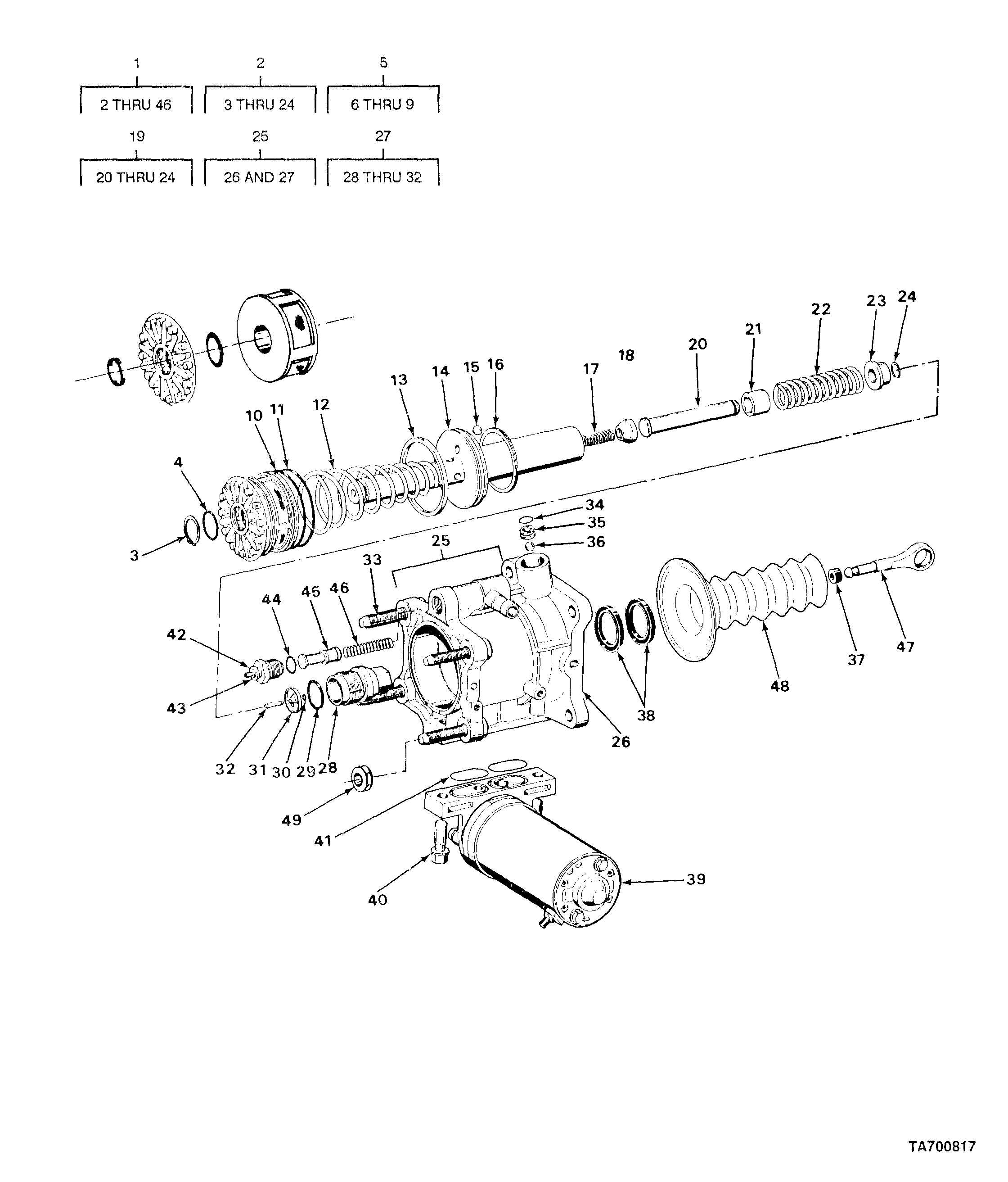 FIGURE 83. HYDRAULIC BOOSTER ASSEMBLY