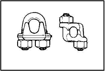 Figure 4-34. Basic Designs of Wire Rope Clips