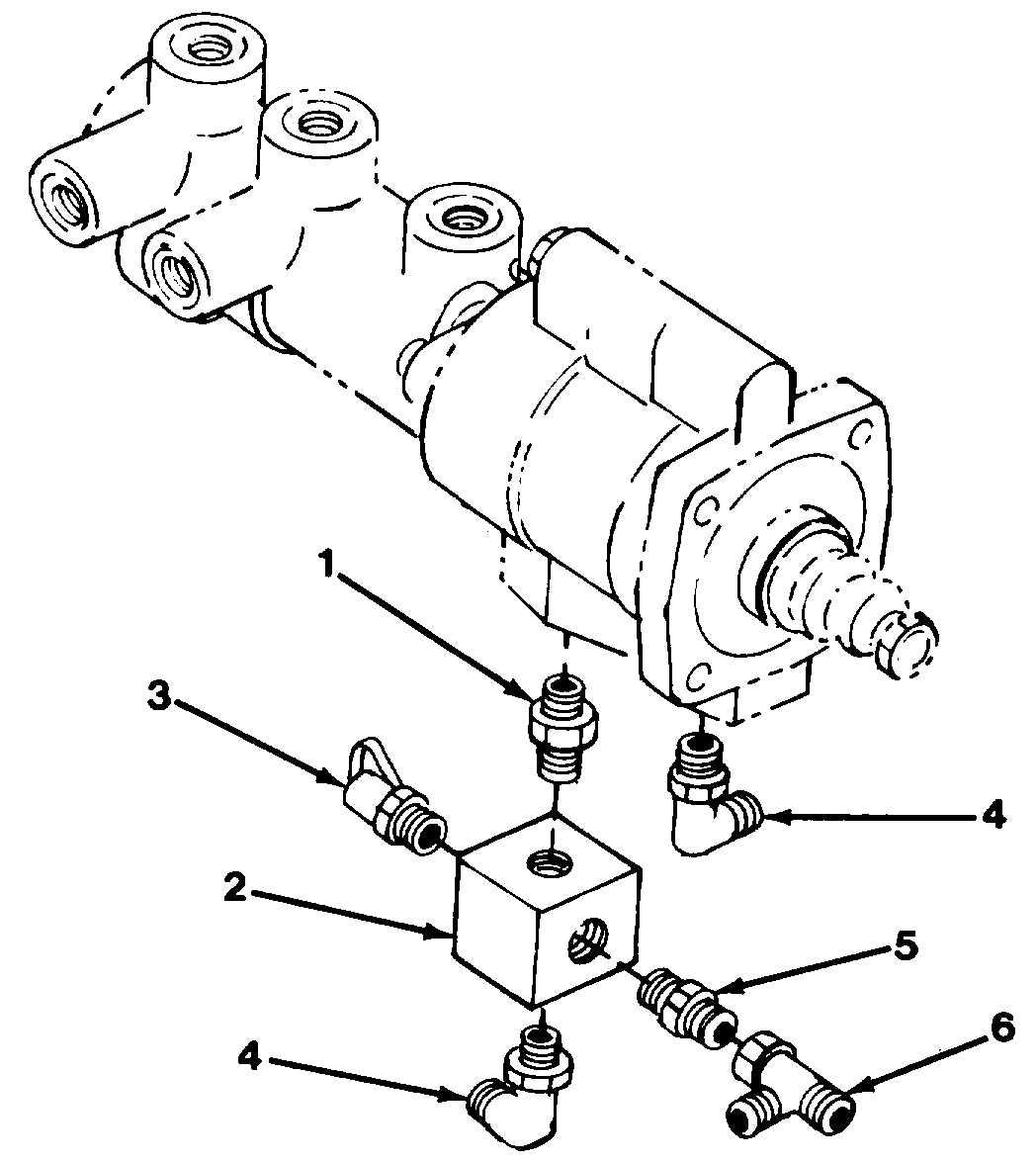 Figure 10-28. Brake Relief Valve Fittings