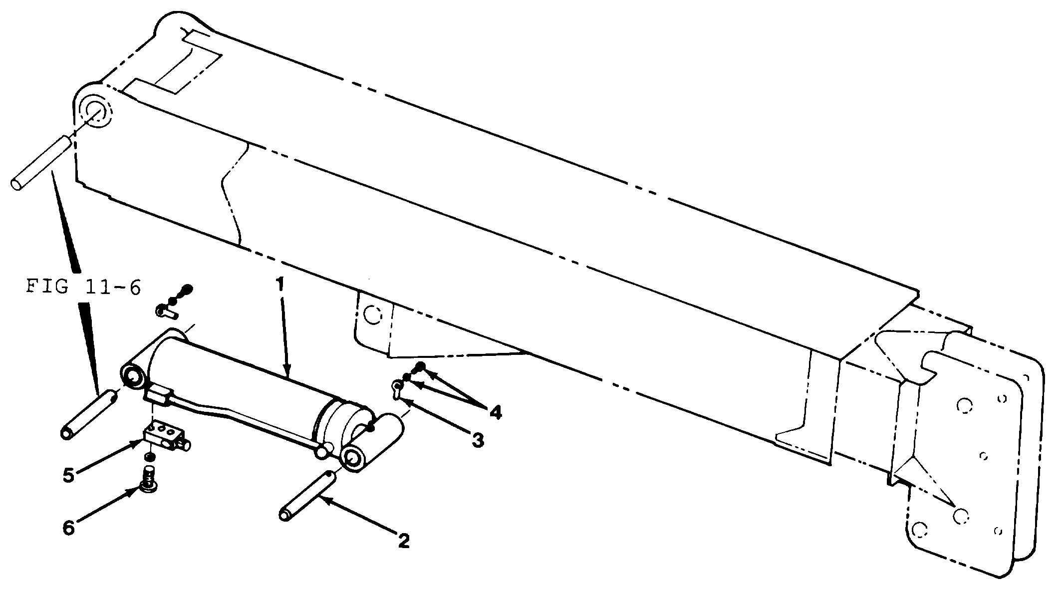 Figure 1030. Boom Hoist Cylinder